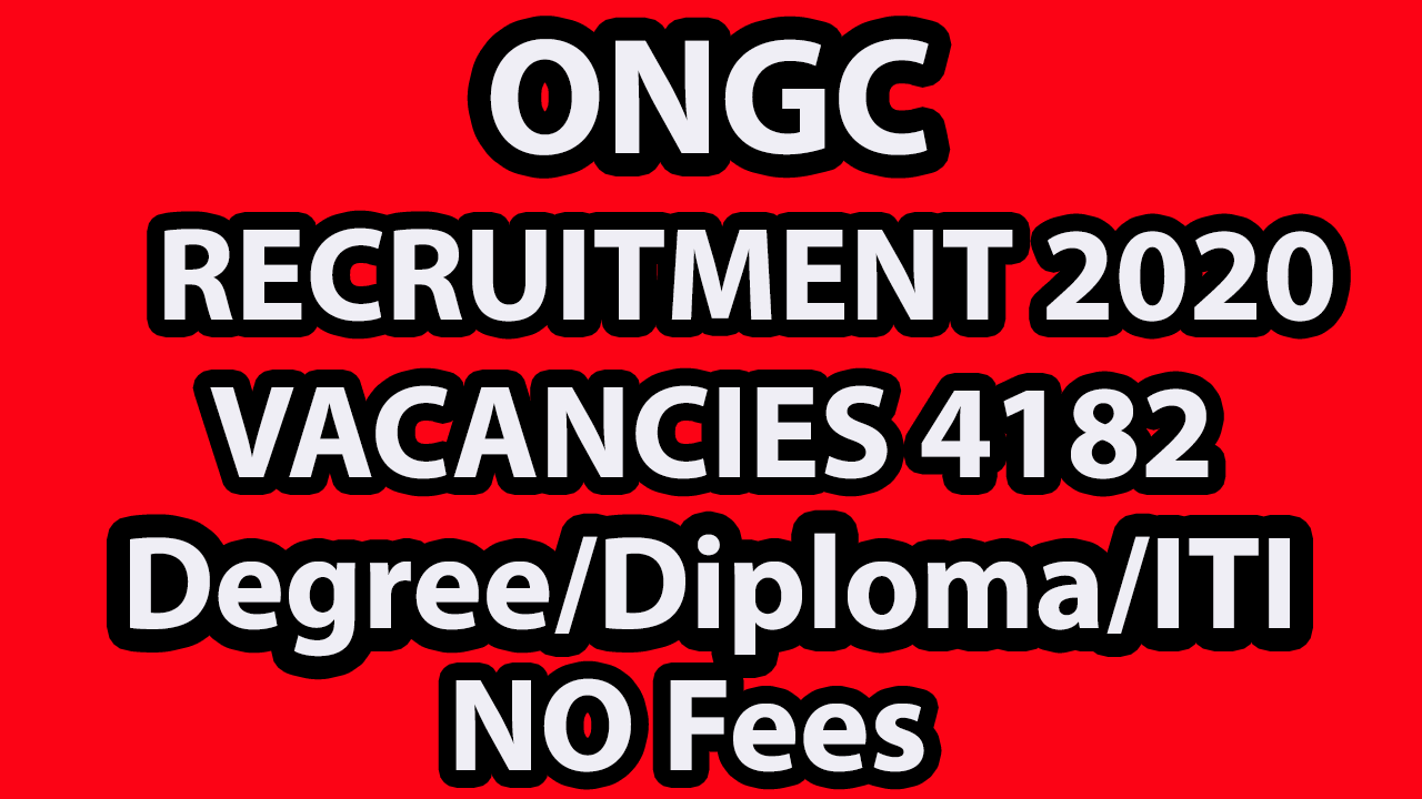 Oil and Natural Gas Corporation Limited(ONGC) Apprentice Online Form 2020