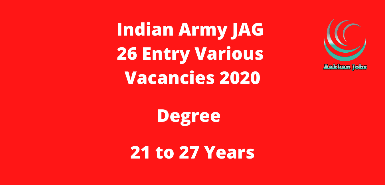 Indian Army JAG 26 Entry Various