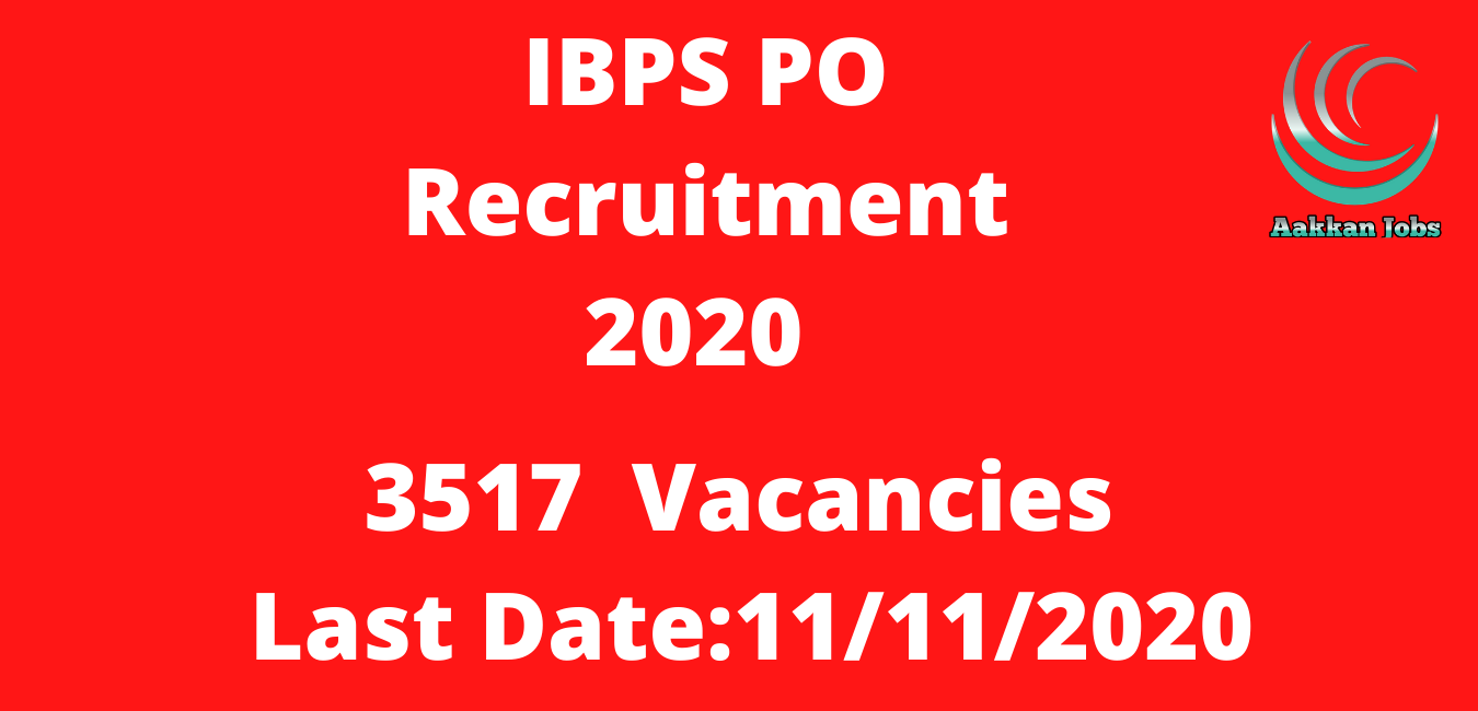 IBPS PO Recruitment 2020 Online Application Form