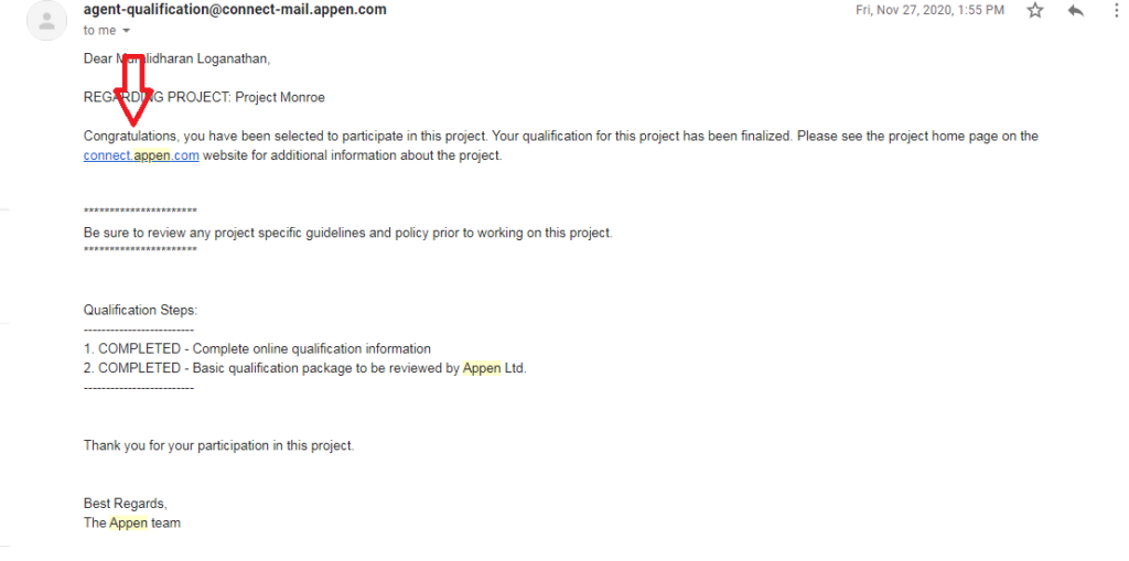 appen approved projects